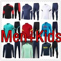 mens and kids kit soccer tracksuit jersey 2122 football jerseys training jacket chandal futbol survetement foot maillot de retro player 999