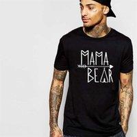 ZSIIBO CREATIVE NOUVEAU COTON PURE COTON PURE ET FEMMES T-shirts, Mode européenne et américaine Mama-Bear Shark's Fin Arrowhead T-shir