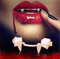 Parti Favor Ayarlanabilir Vampir Diş Fangs Takma Protlar Cadılar Bayramı Kostüm Tatil DIY Süslemeleri Korku Yetişkin Çocuklar için