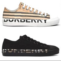 Mens Vintage Check Sneakers Luxury designer Canvas shoes Men Women Laced Up Casual Trainers Black White Mesh Runner Shoe 12 colors 288