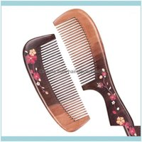 Brushes Care & Styling Tools Productswooden Hair Comb-Fine Tooth Comb, Unisex-Static- Natural Exfoliating Beard Plucking Wood Comb Peach Com