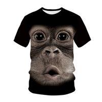 2021 Tier Lustige Affe Gorilla 3D Drucken Kurzarm Sport T-Shirt Männer Schnell trocken Atmungsaktiv T-Shirt Sommer Mode Harajuku Top T-Shirts Unisex Kleidung