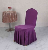 의자 스커트 커버 결혼식 연회 의자 수호자 slipcover 장식 pleated 치마 스타일 의자 커버 탄성 스판덱스 시트 커버 DBC BH4231