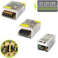 Cambio di alimentatore di alimentazione trasformatori AC 110V 220V a DC 5V 12V 24V 1A 2A 3A 5A 8A per modulo a striscia LED CCTV