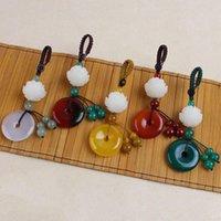 Keychains créatifs tissage à la main ronde porte-clés de la mode pendentif brillant brillant boucle de la boucle de la forme bijoux porte-clés porte-chaîne voiture suspendue portachiavi