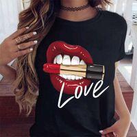 Cool Summer Casual Mode personnalité Lady T-shirt Tops Femmes MVKX