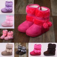 Bottes de neige filles Hiver confortable épais épais enfants bottes bottes boule d'épaisseur enfants enfants automne mignon garçons bottes princesse chaussures 1364 y2