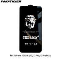 Fashion Gorilla 10D Plus Tempered Glass Screen Protector For iPhone 12 Pro Max 12Mini 12Pro Full Cover Protective Film