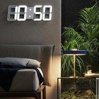Nordic LED Saat Alarm İzle USB Şarj Elektronik Dijital Saatler Duvar Horloge 3D Dijital Saat Ev Dekorasyon Ofis Masa Masası Saati