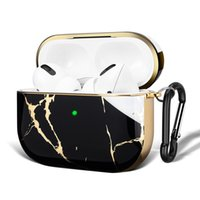 Wireless Bluetooth Headphone Cases Airpod Pro Case Luxury Marble Pattern Hard PC Earphones Charging Box Cover For Air Pods 3