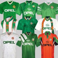 1992 Irlanda Retro Soccer Jersey 1990 Home Clássico Vintage Irlandês Sheedy 1994 1995 1996 Out Futebol Camisetas McGrath Keane 90 92 94 96 97 98 Houghton Aldridge