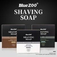 BlueZoo Beard Rasage Savon de mousse Savon Free Sanal Hair Déploiement 60g Hommes Soins faciaux