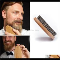 Brushes Care & Styling Tools Hair Products Delivery 2021 Natural Boar Bristle Beard Brush For Men Bamboo Face Mas Comb Beards And Mustache Dr