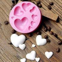 Loving Heart Shape Silicone Fondant Mold DIY Colorful Sweet Heart Chocolate Candy Paste Cake Decorating Tool Mold
