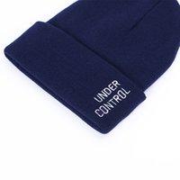Bonnets tricotés Hommes Casual Tricot Couple Couple Couple Chapeaux Aiwohaige 2021 Hiver Froid Chapeaux Femmes Lettre Broderie