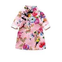 Yeni Bahar Sevimli Kızlar 'Elbiseler Çocuk Çin Chi-Pao Cheongsam Yeni Yıl Hediye Çocuklar Kız Parti Giysileri Kostüm Bebek Kız Qipao 776 S2