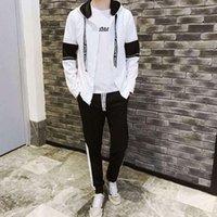 Roupas e calças Primavera Outfit Jaqueta Mens Terno Coreano Casual Sportswear Student Handsome Slim-Fitting Mens Jaqueta