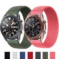 20mm 22mm geflochtene Solo-Schleife-Uhr-Uhr-Armband für Samsung-Galaxie 3 / 46mm / 42mm / Active 2 / Getriebe S3 Armband Huawei GT / 2 / 2E / PRO Uhrenbandriemen