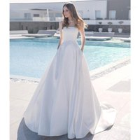 Other Wedding Dresses Arrival A Line Dress 2021 Boho Long Sleeve Luxury Crystal Sashes Court Train Satin Vestido De Novia Bridal Gowns1
