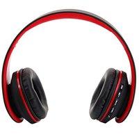 HY-811折り畳み式FMステレオBluetoothイヤホンMP3プレーヤー有線Bluetoothヘッドセットブラックレッド