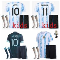 2021 2022 Argentinien Kinder Fußball-Trikots Sets Trainingsanzüge Messi Lo LO Celso TagliFico L.Martinez de Paul 19 20 21 22 Football Boys Shirt mit Shorts