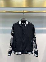 Giacca da uomo in autunno e inverno Maniche in pelle Moda Stitching Design in lana Tessuto di lana Confortevole Calda Qualità Lussuosa Qualità Colletto da baseball Giacche da uomo