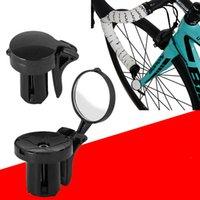 Bicicleta espelho traseiro estrada bicicleta de bicicleta de ciclismo espelho de extremidade gabinete ABS guiador lado segurança flexível vista traseira espelhos bike acessórios 1243 z2