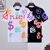Groothandel Hight Kwaliteit PP Skull T-shirt Luxe T-shirt Mannen T-shirt Phillip Plain T-shirts Hoogwaardige Katoenen Designs Couples Tee Mannelijke Top Leggings Versa TNF Yoga Broek