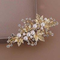 Clip per capelli Barrettes 1pair Squisita imitazione perla foglie di perle clip per la sposa di lusso diamante diademi coreano accessori donne elente BN
