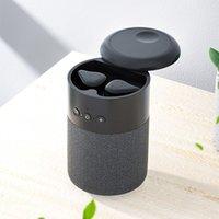 Portable 2 In 1 Bluetooth Headset Speaker Wireless Bass Subwoofer Waterproof Outdoor Speakers Usb Stereo Loudspeaker Music Box