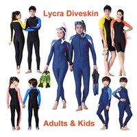 Fins & Gloves Scuba Snorkeling Swim Lycra Dive Skin Full Wetsuit Jump Suits Swimwear Adults Kids Women Men Sun Protective Stinger Suit