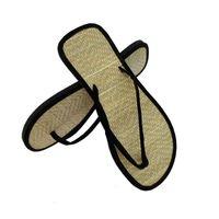 Sandalen Natürliche Bambus-Strohschuhe, Sommerhausschuhe für Liebhaber, Indoor Outdoor-rutschfester und schweißabsorget eg1e