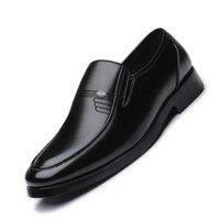 2021 Men's Leather Formal Shoes Lace Up dress Oxfords Fashion Elegant work Footwear Male Business