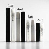 100pcs lot 2ml 3ml 4ml 5ml Small Plastic Perfume Spray Bottle White Black Clear Sample Mist Sprayer Atomizer Pump Perfume Bottle