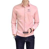 İlkbahar Sonbahar Erkekler Kore Tarzı Ince Ceket Moda Ince Casual Beyaz Kısa Kollu Gömlek Blusas Düzenli Fit Pamuk Koszule erkek Gömlek