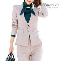 بانت مكتب العمل الدعاوى للنساء أزياء 2 أجزاء السراويل سترة مجموعة زائد الحجم الرسمي الأعمال البدلة الإناث الخريف winte pantsuits
