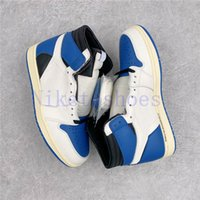 Askeri Mavi Yüksek SP Erkek Ayakkabı Beyaz Siyah Açık Travis Spor Sneakers Eğitmenler Parçası Basketbol Ayakkabı