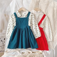Girls' dress 2021 middle and small children's spring dress