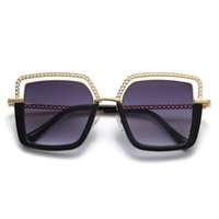 Moda Mujeres Diseñador Gafas de sol Marco de metal Ladies UV400 Protección Gafas de sol Empresas Square Gafas 6 Colores
