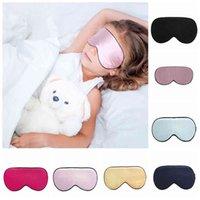 Children Silk Rest Sleep Eye Mask Padded Shade Cover Travel Relax Blindfolds Eye Cover Sleeping Mask Eye Care Beauty Tools 16styles