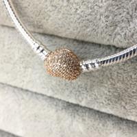 Atacado 925 pulseiras de prata esterlina com caixa 3mm cadeia de cobra caber pandora 796338Chm Bead pulseira pulseira DIY jóias presente para homens mulheres
