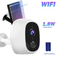WiFi IP Camera Solar Power 1.8W Security Outdoor 2MP Wireless Surveillance Alarm Home Warterproof Cameras