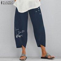 Women's Pants & Capris 2021 Autumn Printed Turnip Pantalon ZANZEA Women Elastic Waist Harem Vintage Cotton Long Palazzo Female Trousers S 5X
