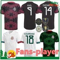 2021 México Soccer Jersey Home 20 21 Chicharito Lozano dos Santos Camisa de Futebol Adulto Men + Kit Kit Mulheres Conjuntos Uniformes