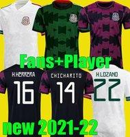 Camiseta مراوح المشجعين نسخة المكسيك كرة القدم الفانيلة 2021 كوبا أمريكا camisetas 21 22 تشيتشاريتو لوزانو دوس سانتوس لكرة القدم قمصان مقاس S - 4XL