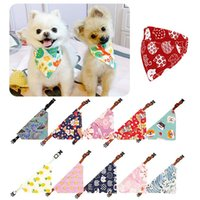 Dog Apparel Pet Bandanas Scarf Collar For Small Dogs Cats Adjustable Triangular Bib Puppy Tie Necktie Cat Washable Accessories