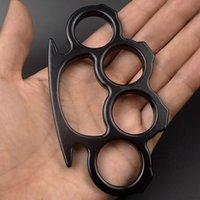 Metal Bronze Knuckle Duster Quatro Dedo Ferramenta Defesa Defesa Prata Prata Ouro Fitness Ao Ar Livre Defesa Defesa De Pocket EDC Tools