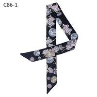 Blumenimitation Seide Schal Mode Twill Satin Sommer Sonnencreme Sorte Bindung Tasche Griff Band Haarband Weibliche MQ2 Tücher