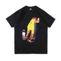 EUA Hip Hop Travis Scott Fast food Palhaço Camiseta Cacto Jack Snack Bar Collaborate Tee Skate Mens Mulheres Manga Curta Rua Casual Tshirt