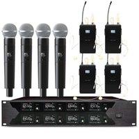 Sistema portatile per microfono wireless a cuffia wireless a 8 canali professionale per microfoni di palcoscenico di grandi e piccole scuole